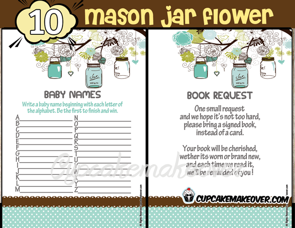 blue mason jar baby shower decorations boy games
