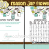 printable blue mason jar themed baby shower games
