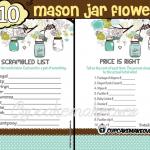 printable boy mason jar blue themed baby shower games