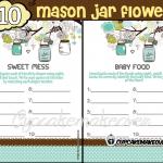blue mason jar baby boy shower printables
