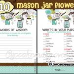 DIY baby shower boy mason jar games
