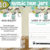 rustic blue mason jar baby shower decorations boy