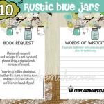 rustic blue mason jar baby shower decorations boy