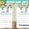 DIY rustic baby shower blue mason jar games