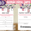rustic pink mason jar baby shower decorations girl