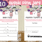 rustic pink mason jar baby shower decorations girl