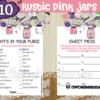 rustic pink mason jar baby girl shower printables