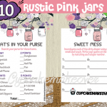 rustic pink mason jar baby girl shower printables