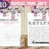 DIY rustic baby shower pink mason jar games