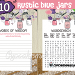 DIY rustic baby shower pink mason jar games