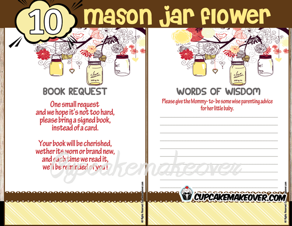printable gender neutral mason jar yellow themed baby shower games