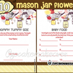 yellow mason jar baby girl boy shower printables