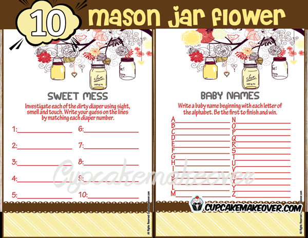 yellow mason jar baby shower decorations gender neutral