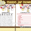 printable yellow mason jar themed baby shower games