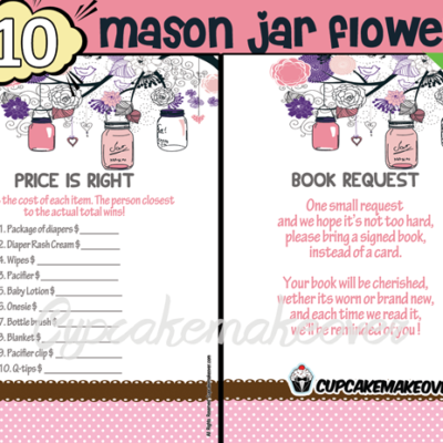 pink mason jar baby shower decorations girl games