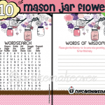 DIY baby shower girl mason jar games