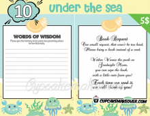 DIY under the sea baby boy shower games