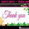Diaper Raffle jungle giraffe girl Baby Shower Tickets Printables