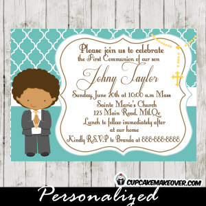 printable first communion invitation for boys