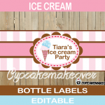neapolitan editable ice cream bottle wrappers