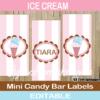 neapolitan ice cream mini candy bar labels