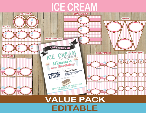 ice cream themed birthday party ideas