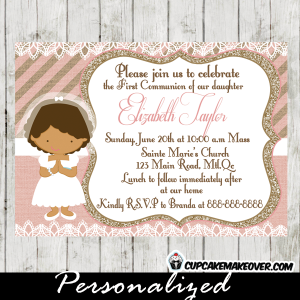 printable first holy communion invitation for girls