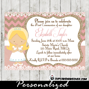 beautiful first communion and confirmation invitations for girls online