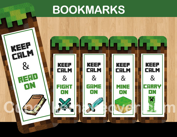 Luscious image within minecraft bookmarks printable