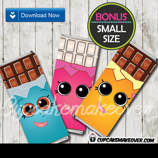 shopkins party Candy Bar Wrapper printable