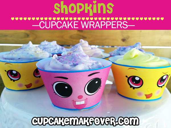 cute printable shopkins cupcake wraps