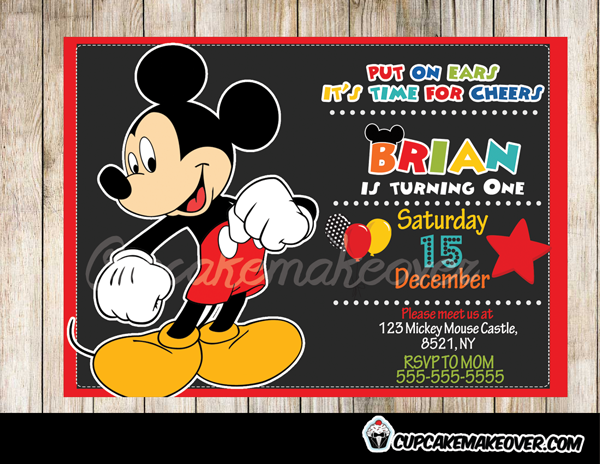 mickey mouse clubhouse birthday raffle ticket mickey mouse party, Birthday invitations