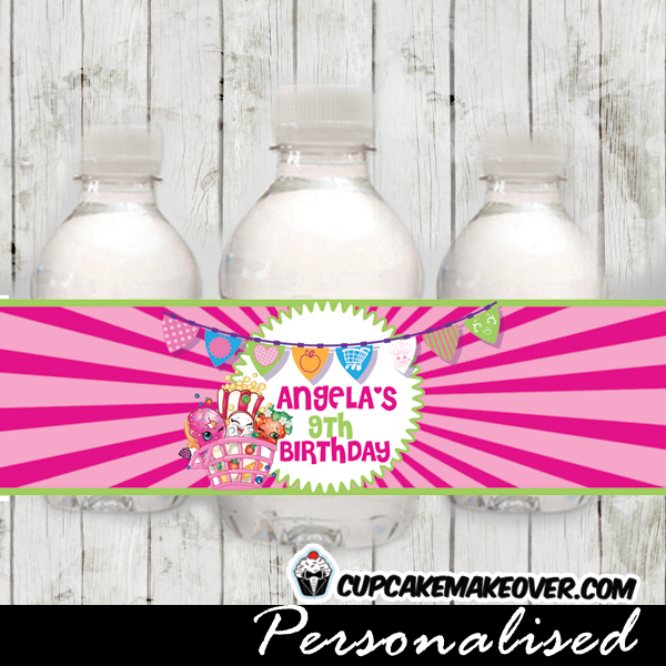 personalized shopkins water bottle labels