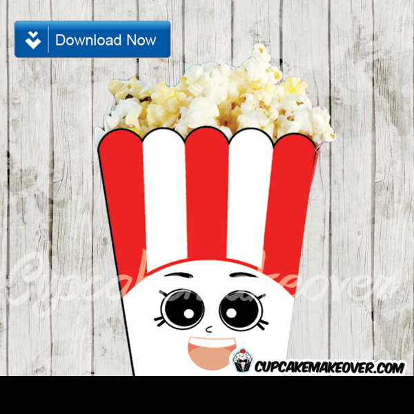 picture relating to Printable Popcorn Boxes named Shopkins Poppy Corn Popcorn Containers, Social gathering Favors