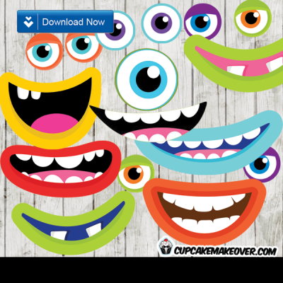 Monsters Photo Props Party Decorations Instant Download