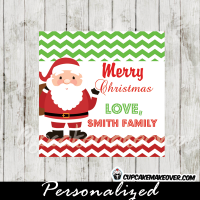 custom jolly santa Christmas gift tags printable