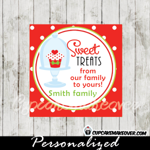 printable christmas gift tags red cupcake sweet treats