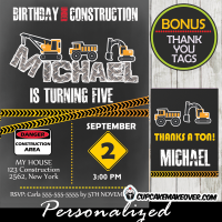 kool kids construction birthday party invitations printable