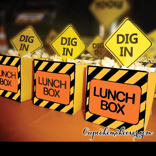 Construction Party Lunch Box Dig In u2013 INSTANT DOWNLOAD & construction party favors Archives - Cupcakemakeover