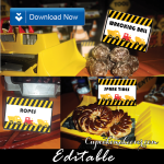 construction theme party food signs editable