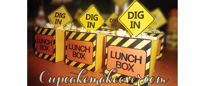 construction birthday favor boxes