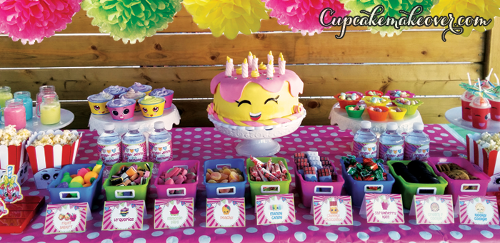 Shopkins Birthday Table Decor: Foods and Sweet Treats