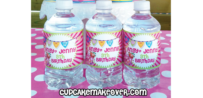 Shopkins Birthday Party Ideas Fun Easy Planning Cupcakemakeover - Mini water bottle label template