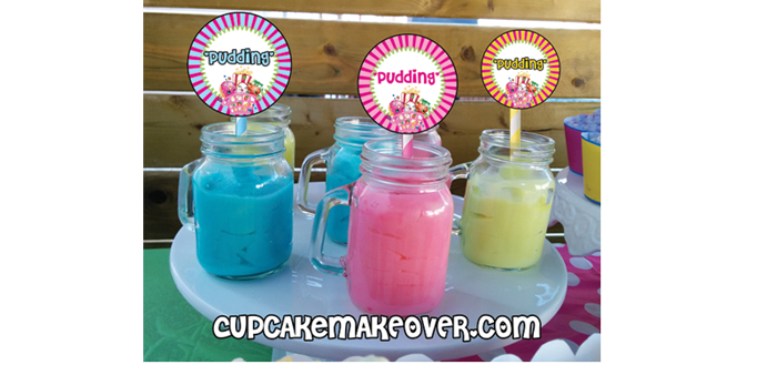 Shopkins toppers sweet treats pudding color