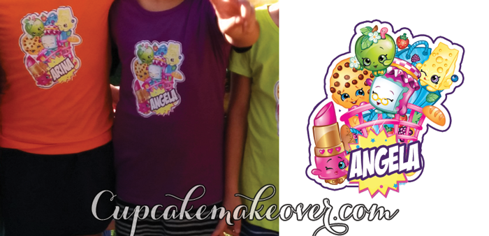 shopkins party favors personalized shirts