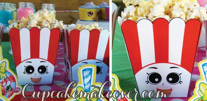 Shopkins birthday poppy corn box