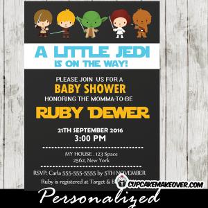 printable star wars baby shower invitation boys