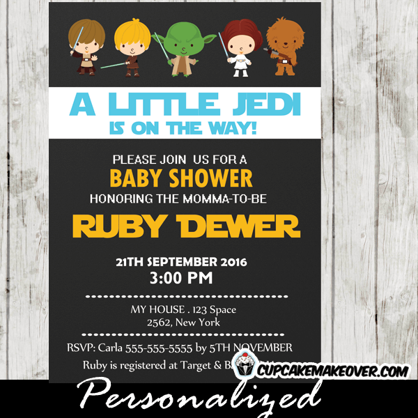 photo about Printable Star Wars Invitation identified as Region Wars Child Shower Invitation Boys Blue, Customized - D1