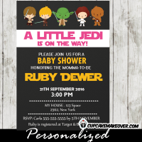 printable star wars baby shower invitations girls