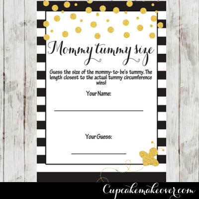 bee themed baby shower games gold confetti black white stripes
